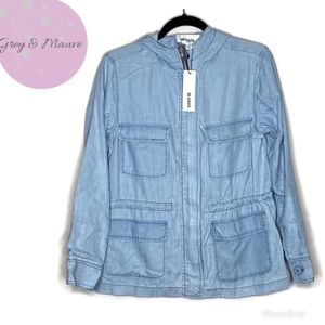 BB Dakota Jeslyn Chambray Utility Jacket Size XS